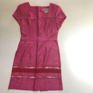 Jessica Howard Vintage Pink Midi Embroidered Dress